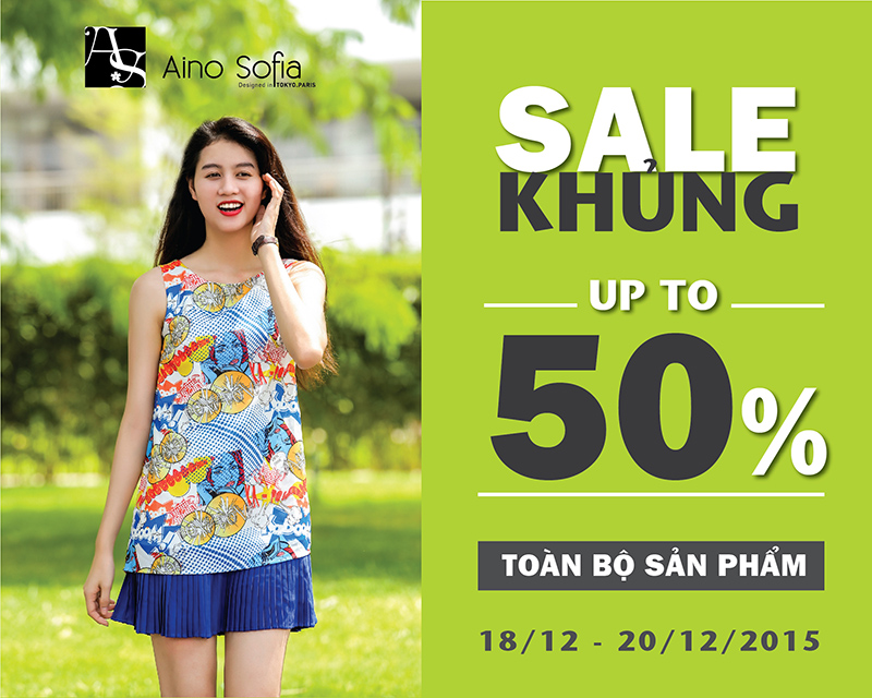 Aino Sofia, sale off, sale up to 50%, discount, giam gia